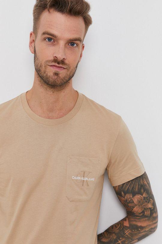 cielisty Calvin Klein Jeans - T-shirt bawełniany