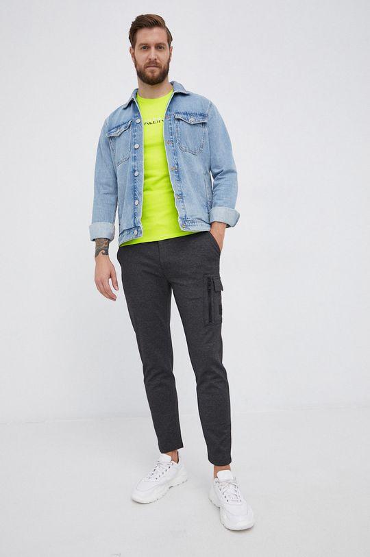 Calvin Klein Jeans - T-shirt żółto - zielony
