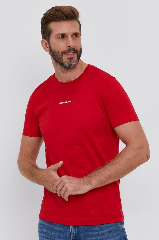 czerwony Calvin Klein Jeans - T-shirt Męski