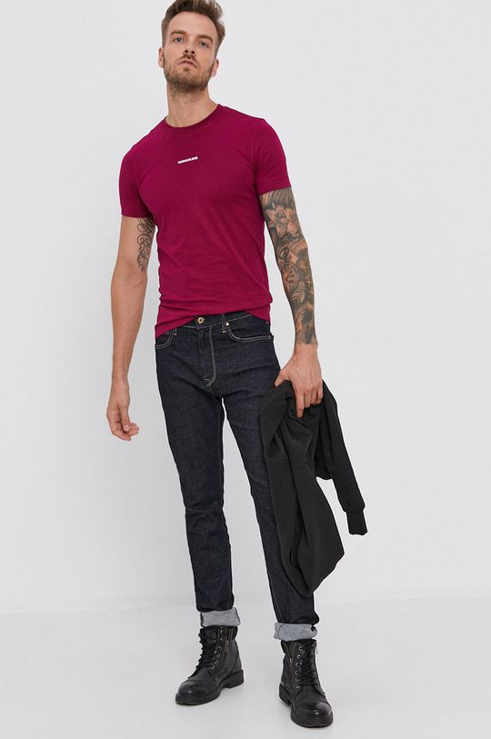 Calvin Klein Jeans - T-shirt purpurowy