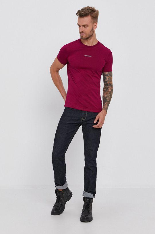 purpurowy Calvin Klein Jeans - T-shirt