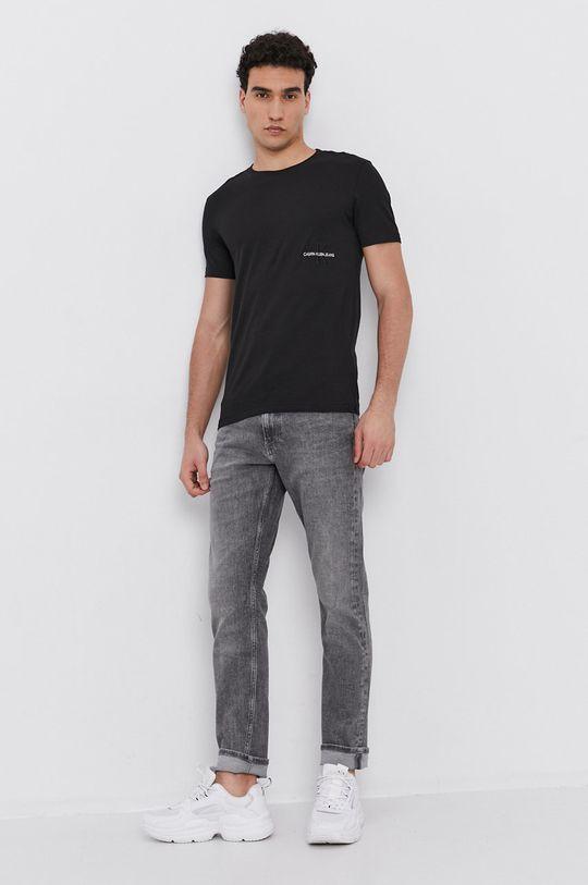 Calvin Klein Jeans - Bavlnené tričko čierna
