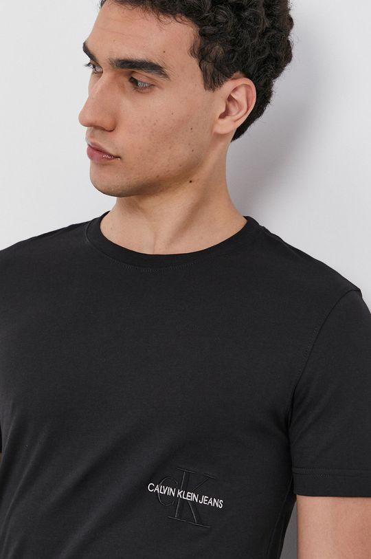 čierna Calvin Klein Jeans - Bavlnené tričko