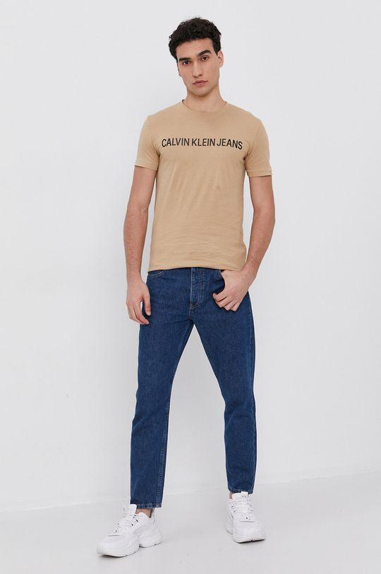 Calvin Klein Jeans - T-shirt beżowy