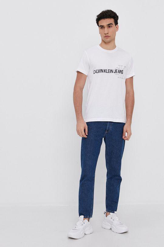 Calvin Klein Jeans - T-shirt bawełniany biały
