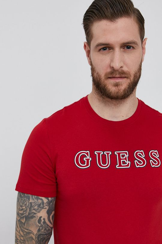červená Guess - Tričko Pánský
