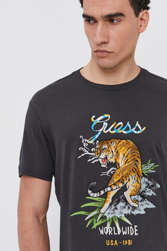 sivá Guess - Bavlnené tričko