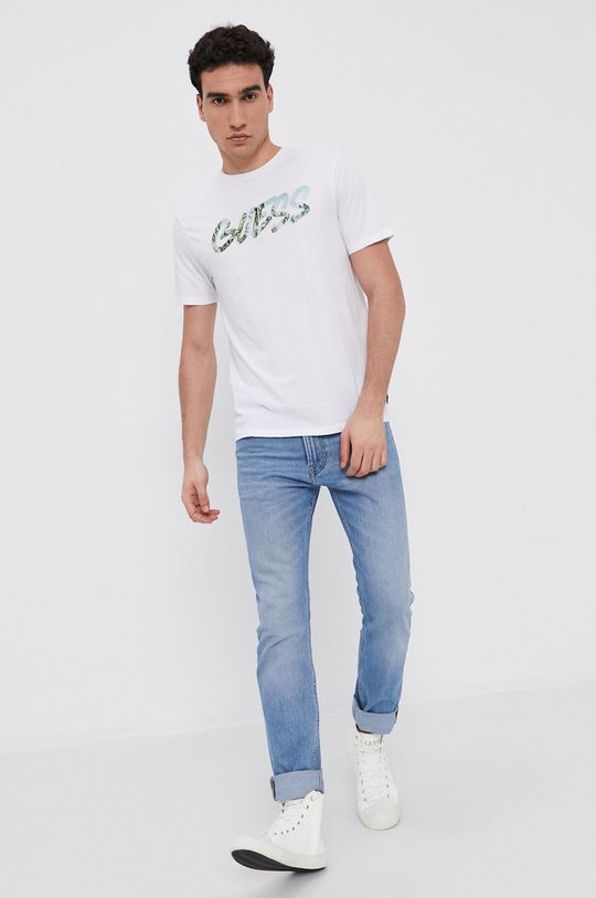 Guess - Bavlnené tričko biela