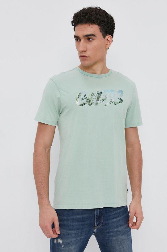světle zelená Guess - Bavlněné tričko