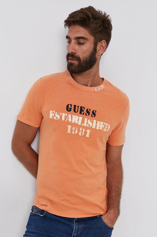 jasně oranžová Guess - Tričko