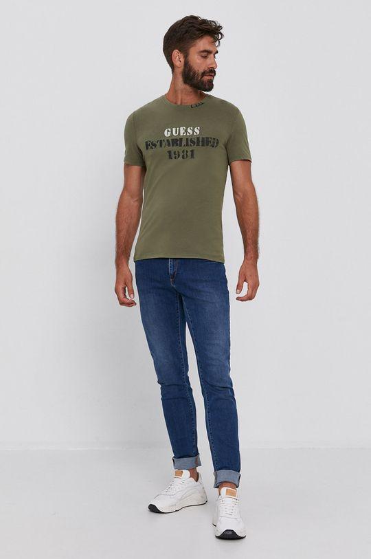 Guess - Tričko olivová