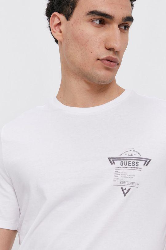 bílá Guess - Bavlněné tričko
