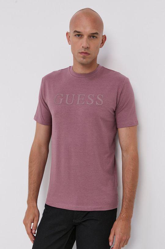 ružovo-červená Guess - Tričko Pánsky