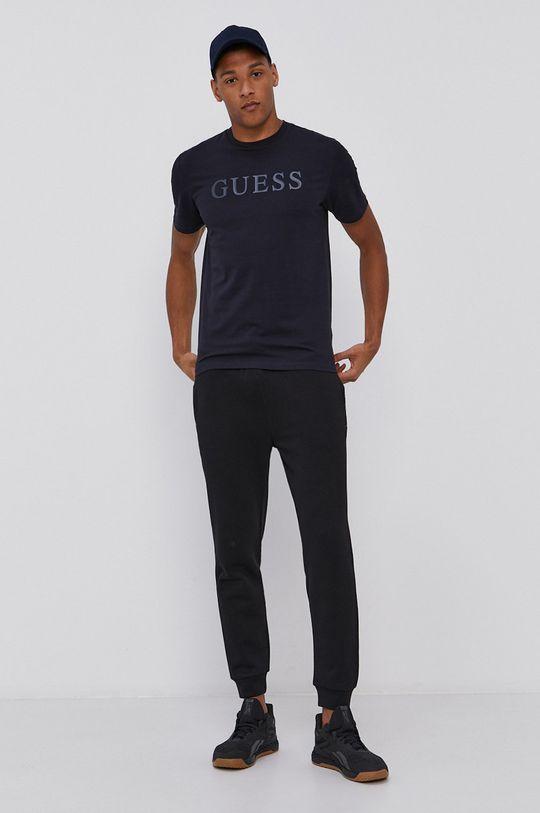 Guess - T-shirt granatowy