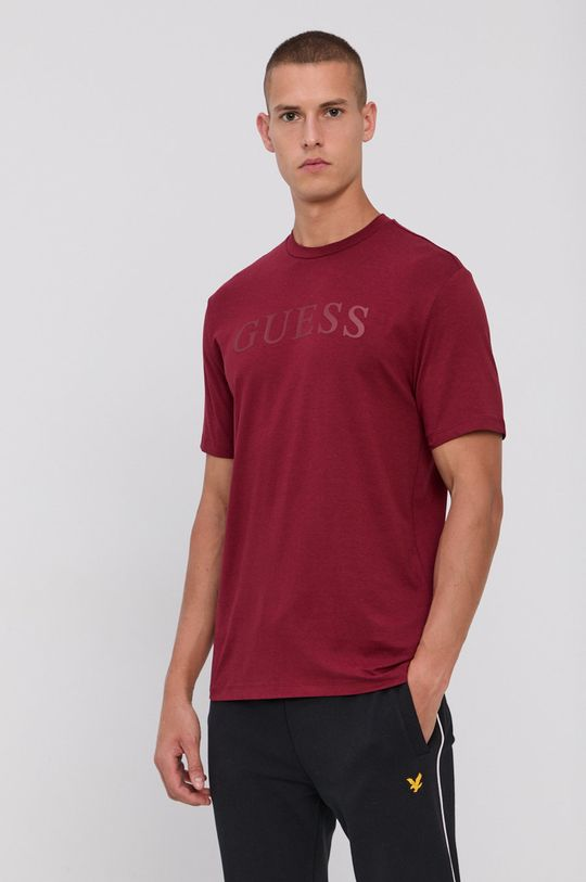 Guess - T-shirt kasztanowy