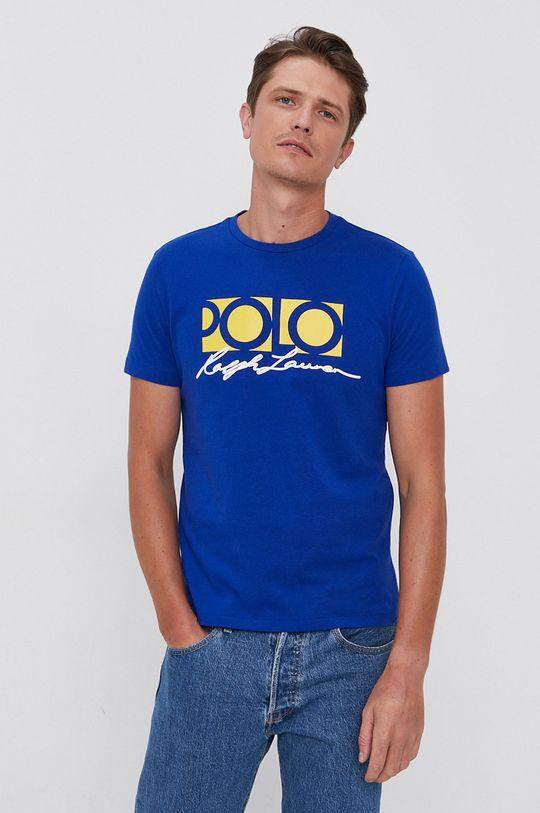 modrá Polo Ralph Lauren - Bavlnené tričko Pánsky