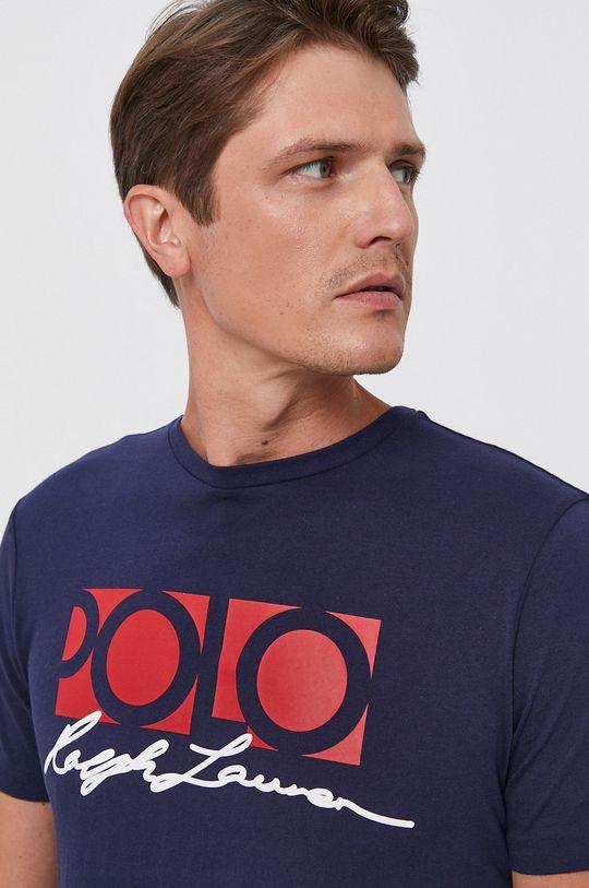 granatowy Polo Ralph Lauren - T-shirt bawełniany