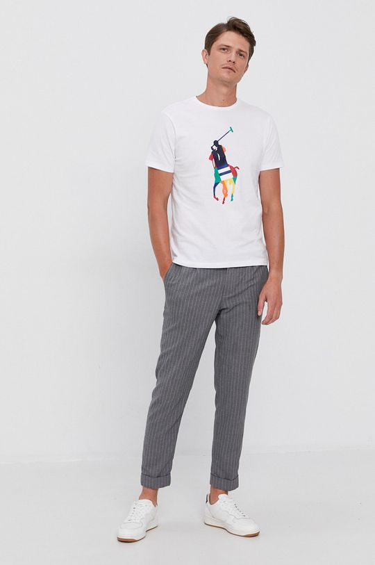 Polo Ralph Lauren - Bavlnené tričko biela