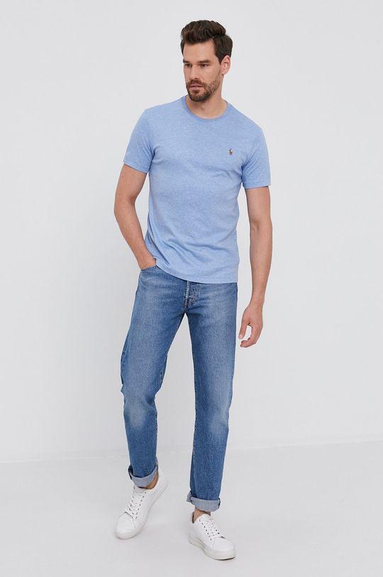 světle modrá Polo Ralph Lauren - Bavlněné tričko Pánský