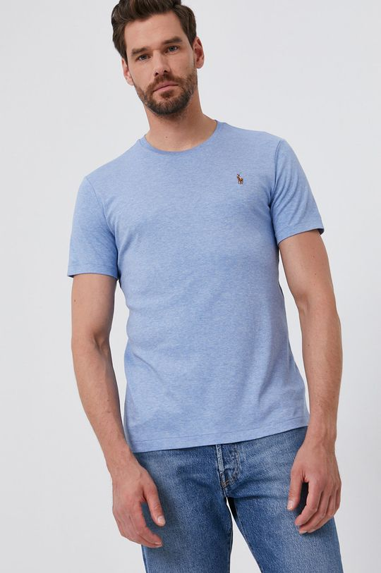 Polo Ralph Lauren - Bavlněné tričko světle modrá
