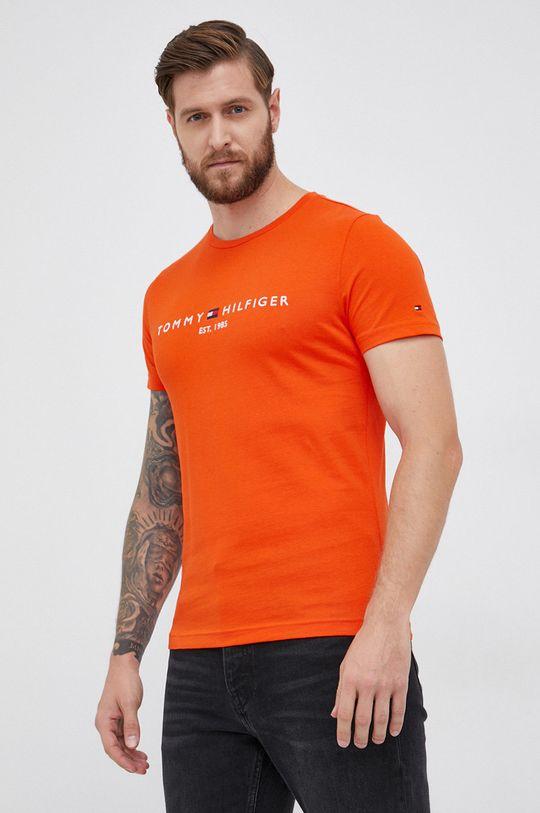 pomarańczowy Tommy Hilfiger - T-shirt bawełniany Męski
