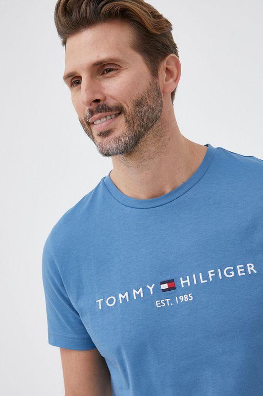 niebieski Tommy Hilfiger - T-shirt bawełniany Męski