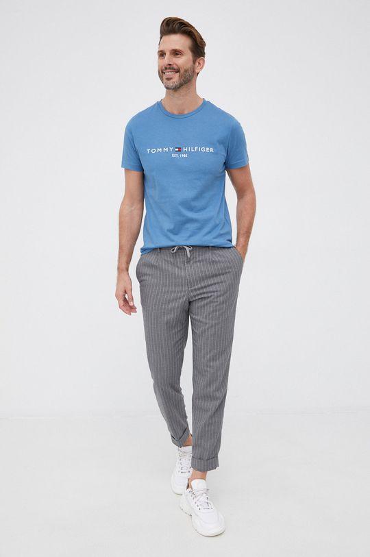 Tommy Hilfiger - T-shirt bawełniany niebieski