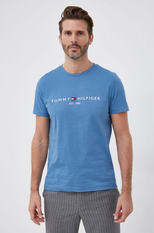 niebieski Tommy Hilfiger - T-shirt bawełniany
