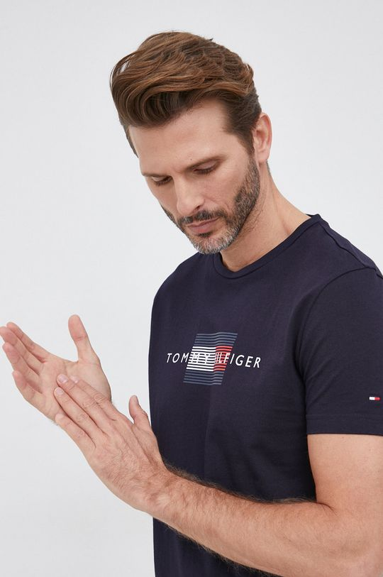 granatowy Tommy Hilfiger - T-shirt bawełniany