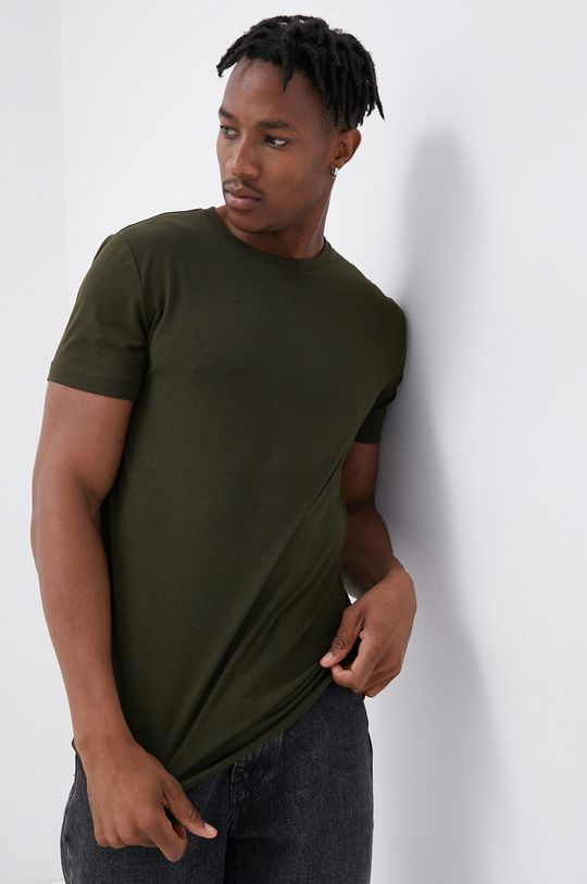 zielony Produkt by Jack & Jones - T-shirt Męski