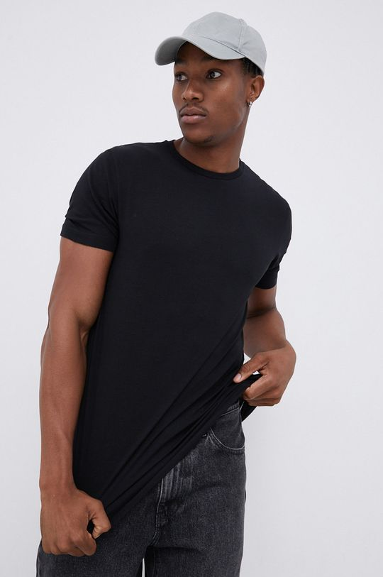 czarny Produkt by Jack & Jones - T-shirt Męski