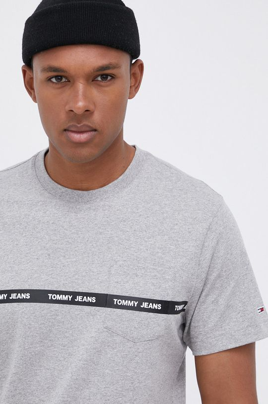 jasny szary Tommy Jeans - T-shirt bawełniany