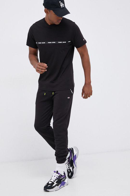 Tommy Jeans - T-shirt bawełniany czarny