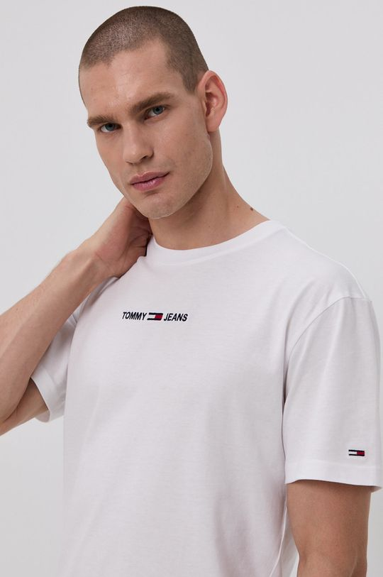biały Tommy Jeans - T-shirt bawełniany
