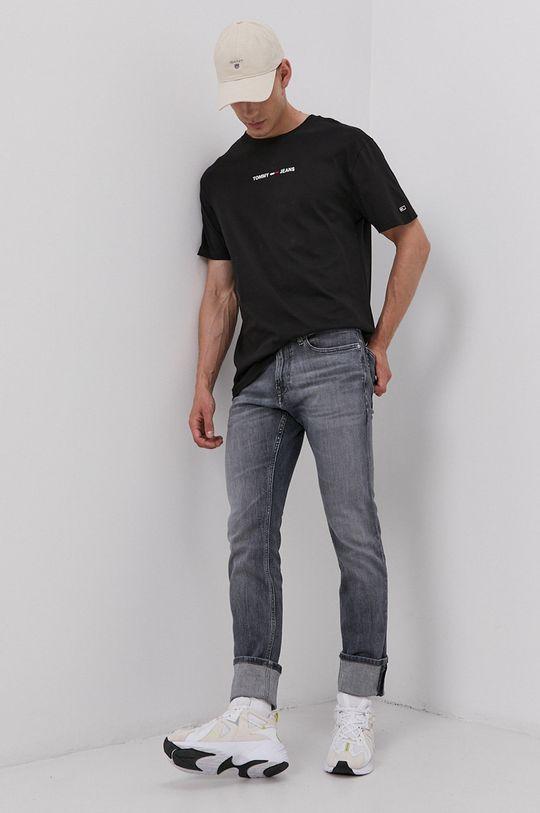 Tommy Jeans - Bavlněné tričko černá