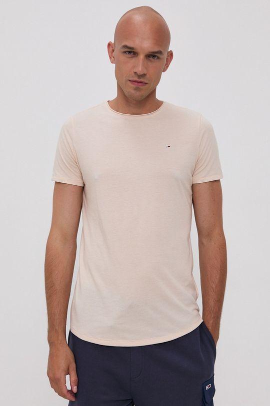 písková Tommy Jeans - Tričko Pánský