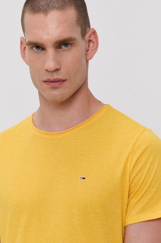 žlutá Tommy Jeans - Tričko