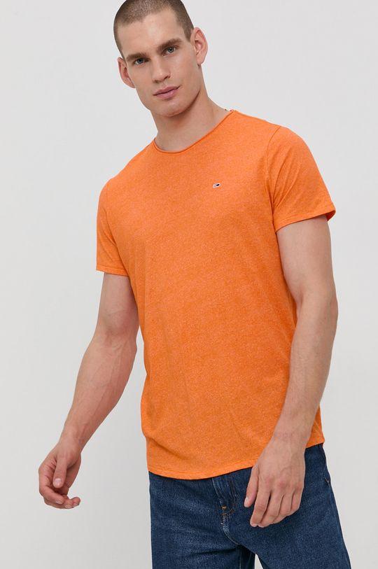 oranžová Tommy Jeans - Tričko Pánský