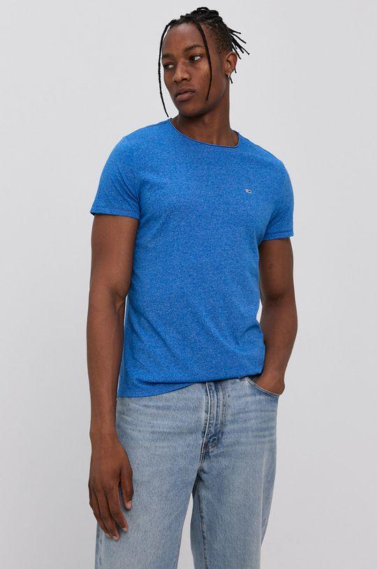 modrá Tommy Jeans - Tričko Pánský