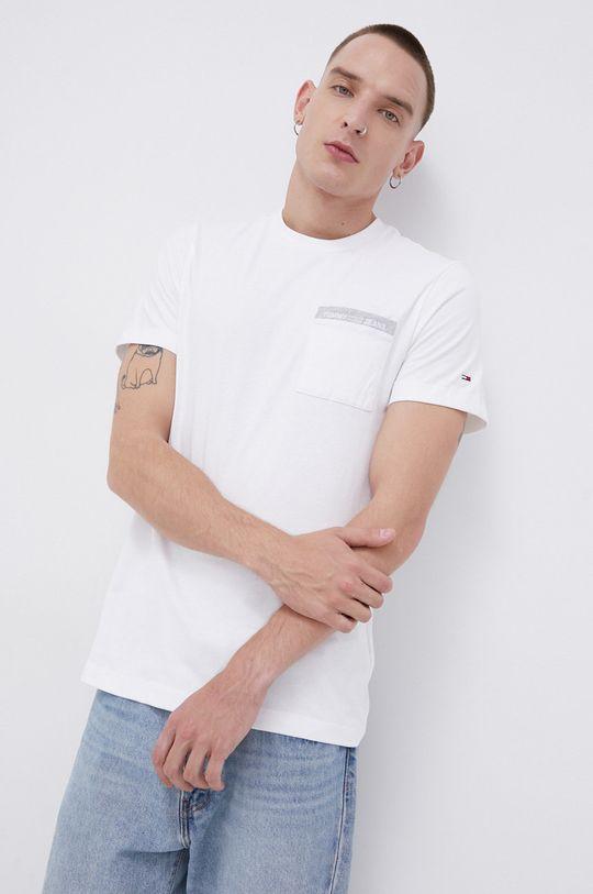 biały Tommy Jeans - T-shirt bawełniany Męski