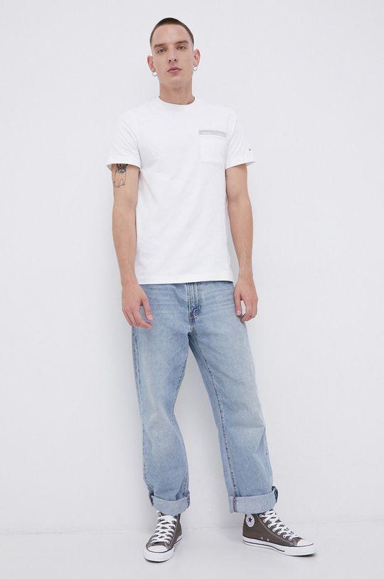 Tommy Jeans - T-shirt bawełniany biały