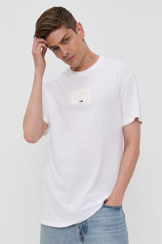Tommy Jeans - Bavlnené tričko biela