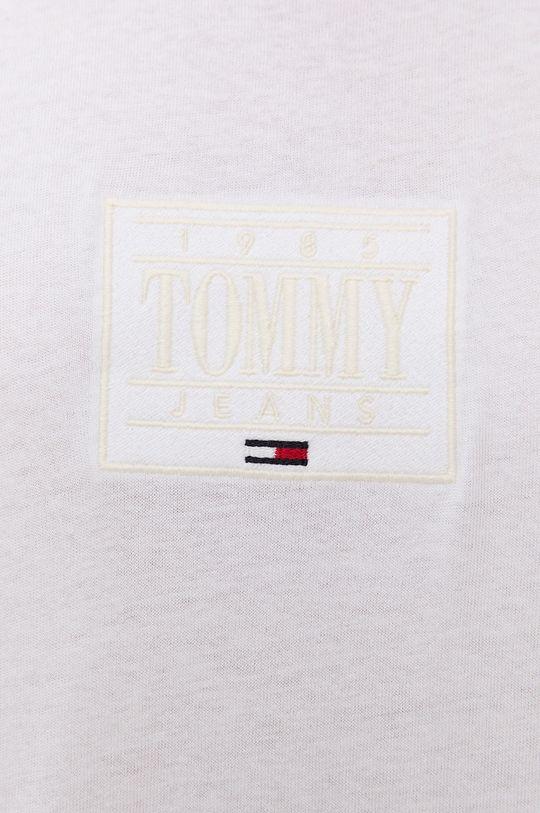 biela Tommy Jeans - Bavlnené tričko