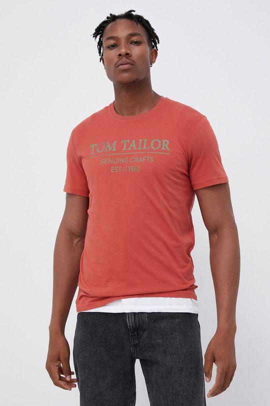 czerwony Tom Tailor - T-shirt bawełniany Męski