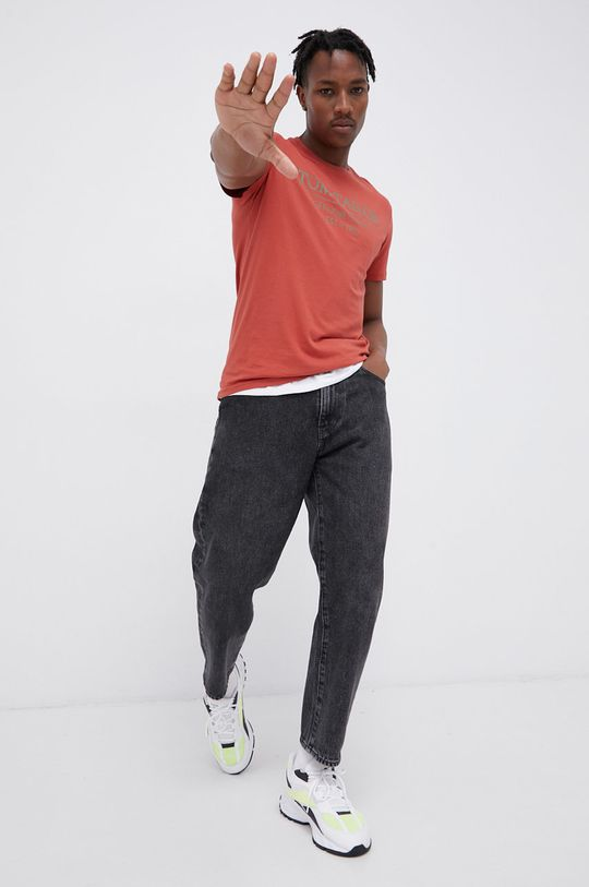 Tom Tailor - T-shirt bawełniany czerwony