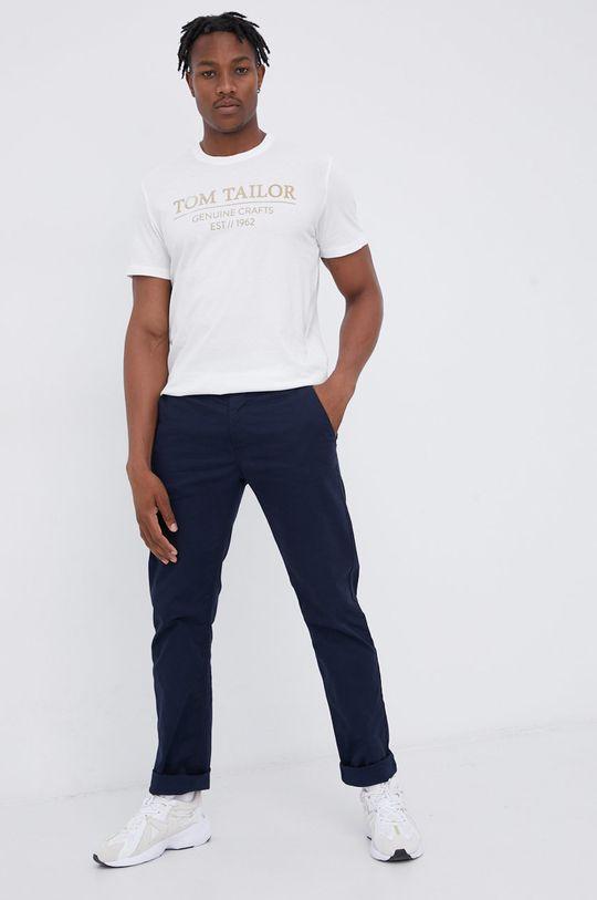 Tom Tailor - T-shirt bawełniany biały