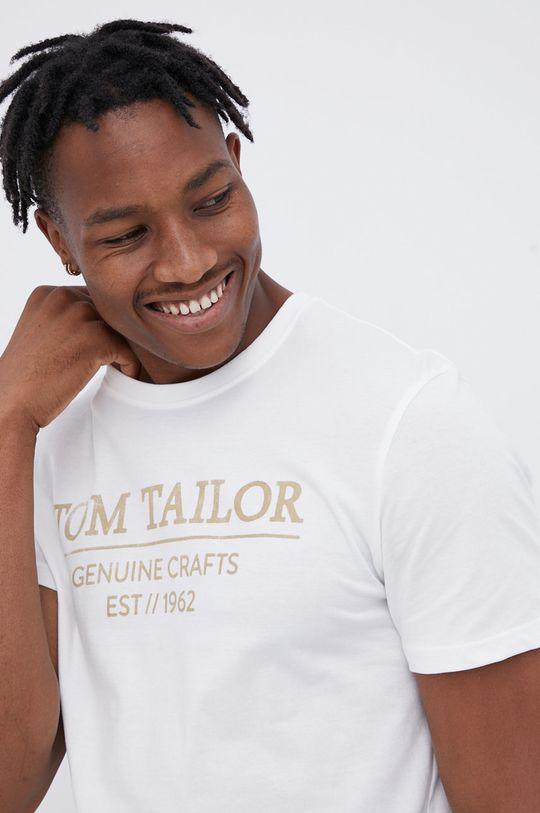 biały Tom Tailor - T-shirt bawełniany