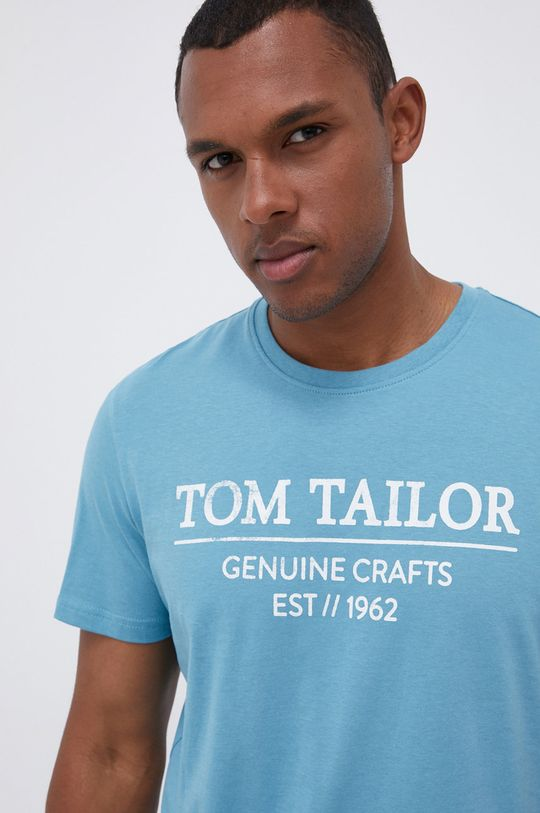 morski Tom Tailor - T-shirt bawełniany Męski