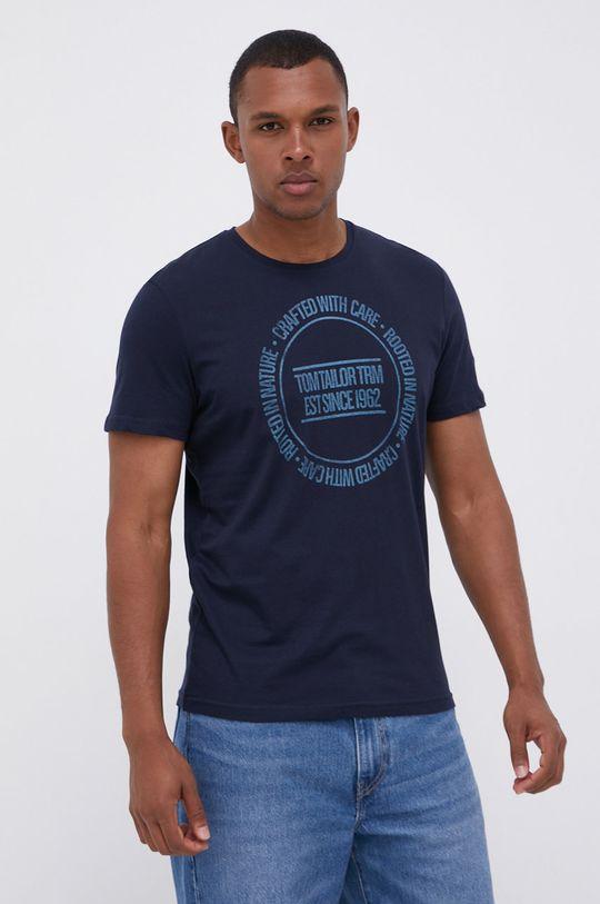 granatowy Tom Tailor - T-shirt bawełniany