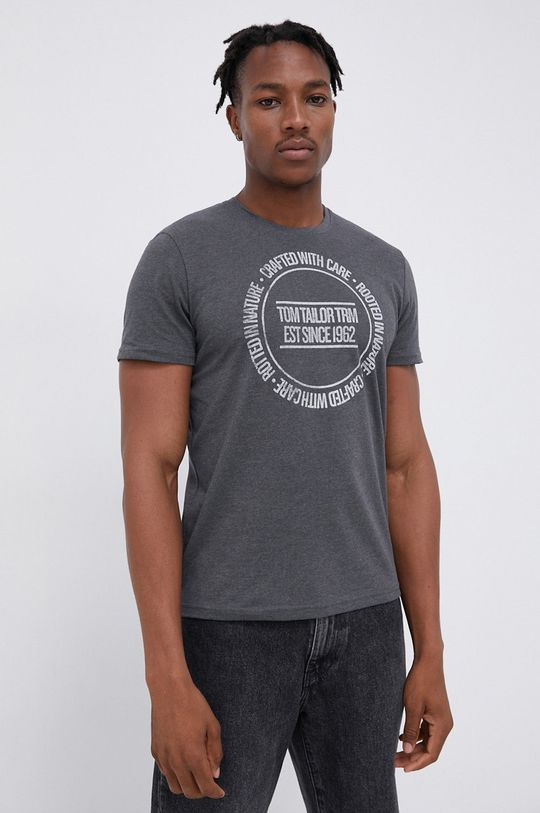 szary Tom Tailor - T-shirt